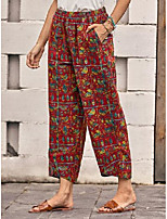 cheap -ladies leisure vacation paisley loose cropped pants