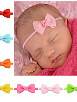 cheap -7 Pcs/set Baby Girls Headband Infant Hair Accessories Cloth Necktie Bows Headwear Tiara Gift Toddlers Bandaged Ribbon Newborn Headwrap 706