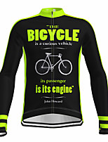 cheap -21Grams Men's Long Sleeve Cycling Jersey Spandex Polyester Black Fluorescent Funny Bike Top Mountain Bike MTB Road Bike Cycling Quick Dry Moisture Wicking Breathable Sports Clothing Apparel