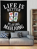 cheap -Mahjong Wall Tapestry Art Decor Blanket Curtain Hanging Home Bedroom Living Room Decoration Polyester