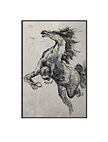 cheap -Oil Painting Handmade Hand Painted Wall Art Vertical Contemporary Horse Animal Home Decoration Decor Rolled Canvas No Frame Unstretched