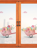 cheap -Romantic Flower Pattern Matte Window Film Cling Vinyl Thermal-Insulation Privacy Protection Home Decor For Window Cabinet Door Sticker Window Sticker - 116*60CM