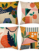 cheap -Double Side Cushion Cover 4PC Soft Decorative Square Throw Pillow Cover Cushion Case Pillowcase for Bedroom Livingroom Superior Quality Machine Washable Indoor Cushion for Sofa Couch Bed Chair