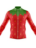 cheap -21Grams Men's Long Sleeve Cycling Jersey Spandex Polyester Red Funny Bike Top Mountain Bike MTB Road Bike Cycling Quick Dry Moisture Wicking Breathable Sports Clothing Apparel / Stretchy / Athleisure
