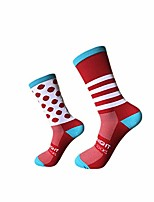 cheap -bicycle riding cycling socks left and right feet wave point striped bikes socks basketball running socks for men women latest