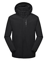 cheap -Men's Hiking 3-in-1 Jackets Ski Jacket Hiking Fleece Jacket Winter Outdoor Thermal Warm Waterproof Windproof Fleece Lining Outerwear Windbreaker Trench Coat Skiing Fishing Climbing (Male) black
