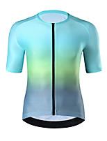 cheap -21Grams Men's Short Sleeve Cycling Jersey Summer Spandex Purple Blue Gradient Bike Top Mountain Bike MTB Road Bike Cycling Quick Dry Moisture Wicking Sports Clothing Apparel / Athleisure