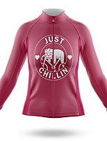 cheap -21Grams Women's Long Sleeve Cycling Jersey Spandex Polyester Red Funny Sloth Bike Top Mountain Bike MTB Road Bike Cycling Quick Dry Moisture Wicking Breathable Sports Clothing Apparel / Stretchy