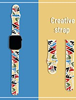 cheap -Smart Watch Band for Apple iWatch 1 pcs Printed Bracelet Silicone Replacement  Wrist Strap for Apple Watch Series 7 / SE / 6/5/4/3/2/1