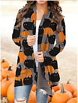 cheap -Pumpkin Cat Coat Cosplay Costume Adults' Women's Cartoon Halloween Party Halloween Halloween Carnival Masquerade Festival / Holiday Acrylic Fibers Orange Women's Easy Carnival Costumes Cat Pumpkin