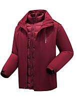 cheap -Men's Hiking 3-in-1 Jackets Ski Jacket Hiking Fleece Jacket Winter Outdoor Thermal Warm Windproof Fleece Lining Lightweight Outerwear Windbreaker Trench Coat Skiing Fishing Climbing Male black Male
