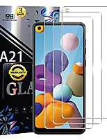 cheap -galaxy a21 screen protector tempered glass 9h hardness anti scratch, bubble free, case friendly, ultra clear for samsung galaxy a21[3 pack]