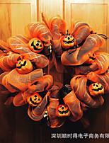 cheap -halloween wreath wreath decoration scary skull pumpkin door ornaments decoration decoration props