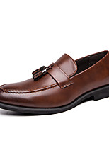 cheap -Men's Loafers & Slip-Ons Business Casual Classic Daily Party & Evening Synthetics Black Brown Fall Winter / Tassel