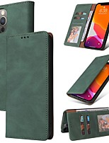 cheap -Phone Case For Apple Full Body Case iPhone 12 Pro Max 11 SE 2020 X XR XS Max 8 7 Card Holder Shockproof Dustproof Solid Colored PU Leather