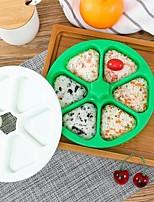 cheap -Triangular Rice Ball Mold Bento Box Six in One Japanese Sushi Tool Seaweed Rice Ball DIY Rice Shape