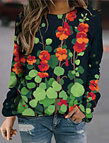 cheap -Women's Sweatshirt Pullover Floral Graphic Prints Print Daily Sports 3D Print Active Streetwear Hoodies Sweatshirts  Red