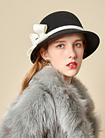 cheap -Women's Party Hat Party Wedding Special Occasion Flower Flower Wine Black Hat White Fall Winter Spring Holiday