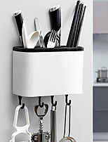 cheap -Kitchen Tableware Cage Chopstick Holder Multifunctional Punch-free Chopstick Basket Rack Drain Spoon Fork Knife Storage Wall-Mounted