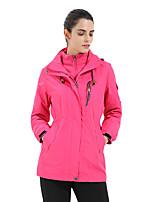 cheap -Women's Hiking 3-in-1 Jackets Ski Jacket Hiking Fleece Jacket Winter Outdoor Thermal Warm Waterproof Windproof Quick Dry Outerwear Winter Jacket Trench Coat Skiing Ski / Snowboard Fishing Rose red