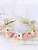 cheap -Bride Bridesmaid Travel Shot Sweet Wreath Simulation Flower Bud Full Of Stars Hair Band Flower Girl Corolla Wedding Headdress Female
