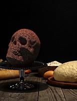 cheap -Skull Silicone Cake Mold Skeleton Baking Chocolate Mold Halloween Diy Skull Cake Model
