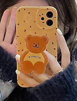 cheap -Phone Case For Apple Back Cover iPhone 12 Pro Max 11 X XR XS Max iphone 7Plus / 8Plus Shockproof Dustproof with Stand Cartoon Graphic TPU