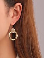 cheap -Women's Earrings Circle Stylish Earrings Jewelry Silver / Gold For Street
