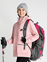 cheap -Women's Hiking Down Jacket Hiking 3-in-1 Jackets Ski Jacket Winter Outdoor Thermal Warm Windproof Quick Dry Lightweight Outerwear Winter Jacket Trench Coat Skiing Ski / Snowboard Fishing Rose red