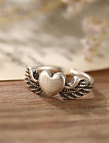 cheap -Ring Retro Silver Alloy Heart Stylish Simple European 1pc One Size / Open Cuff Ring