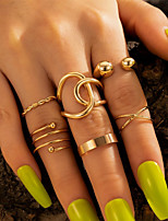 cheap -Ring Classic Gold Alloy Natural Fashion Holiday 1 set One Size / Women's