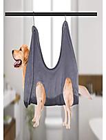 cheap -dog/cat hammock helper,grooming hammock restraint bag harness nail clipper trim bath (gray, s)