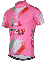 cheap -21Grams Women's Short Sleeve Cycling Jersey Summer Spandex Pink Graffiti Bike Top Mountain Bike MTB Road Bike Cycling Quick Dry Moisture Wicking Sports Clothing Apparel / Stretchy / Athleisure