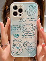 cheap -Phone Case For Apple Back Cover iPhone 12 Pro Max 11 SE 2020 X XR XS Max iphone 7Plus / 8Plus Shockproof Dustproof Cartoon Graphic TPU