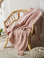 cheap -knit throw blanket soft and fluffy chenille boho chic blanket (51x63 inch, pink)