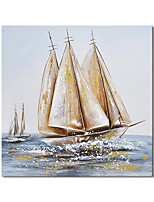 cheap -Oil Painting Handmade Hand Painted Wall Art Modern Abstract Sailing Smoothly Landscape Home Decoration Decor Rolled Canvas No Frame Unstretched