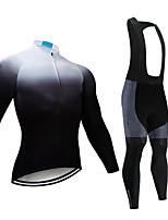 cheap -CAWANFLY Men's Long Sleeve Cycling Jersey with Bib Tights Black Bike Sports Geometic Mountain Bike MTB Road Bike Cycling Clothing Apparel / Micro-elastic / Athleisure / Triathlon