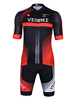 cheap -Men's Short Sleeve Cycling Jersey with Shorts Summer Spandex Black / Red Bule / Black Stripes Bike Quick Dry Sports Stripes Mountain Bike MTB Road Bike Cycling Clothing Apparel / Stretchy / Athletic