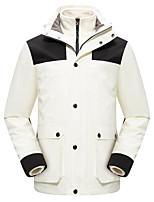cheap -Women's Men's Hiking Down Jacket Hiking 3-in-1 Jackets Ski Jacket Winter Outdoor Thermal Warm Waterproof Windproof Quick Dry Outerwear Winter Jacket Trench Coat Skiing Ski / Snowboard Fishing Navy