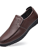 cheap -Men's Loafers & Slip-Ons Drive Shoes Hand Stitching Casual Daily Office & Career PU Synthetics Breathable Non-slipping Black Brown Fall Spring / Square Toe