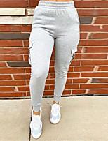 cheap -Women's Sweatpants Sweatpants Casual Sports Pants Solid Colored Full Length Pocket Gray