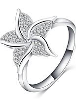 cheap -Ring Silver Alloy Flower Classic Sweet 1pc 6 7 8 9 / Women's