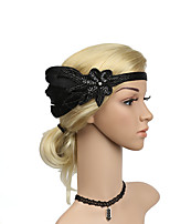 cheap -Women's Party Street Dailywear Sequins Feather Solid Color Gold Black Headwear Rhinestone hampagne Fall Winter Spring