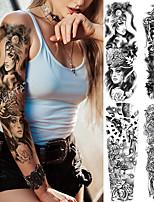 cheap -4 Pcs Temporary Tattoos Eco-Friendly Disposable Body Brachium Back Card Paper