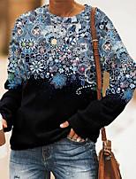 cheap -Women's Sweatshirt Pullover Floral Graphic Prints Print Daily Sports 3D Print Active Streetwear Hoodies Sweatshirts  Blue Purple Green