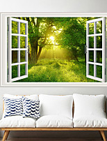 cheap -Forest Sunshine Wall Stickers Living Room Removable Pre-pasted PVC Home Decoration Wall Decal 1pc