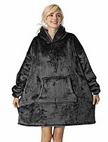 cheap -tormays oversized flannel blanket with long sleeves, wearable and cozy with large front pocket, sherpa fleece lining for adults, teens and children