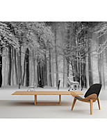 cheap -Mural Wallpaper Wall Sticker Covering Print Custom Peel and Stick Self Adhesive Snow Forest Fawn PVC / Vinyl Home Decor