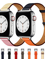 cheap -Smart Watch Band for Apple iWatch 1 pcs Classic Buckle Leather Loop Genuine Leather Replacement  Wrist Strap for Apple Watch Series SE / 6/5/4/3/2/1 38mm 40mm 42mm 44mm