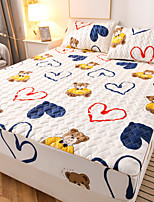 cheap -100% cotton washable cotton waterproof urine permeable bed mattress mattress protective cover thickened cotton clamped pure cotton bed cover non-slip